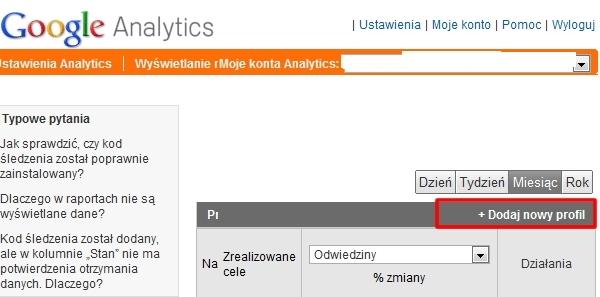 Google analytics rejestracja
